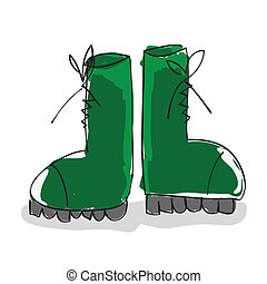 militær, støvler