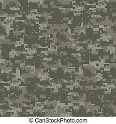 militær, træer, camouflage, seamless, pattern.
