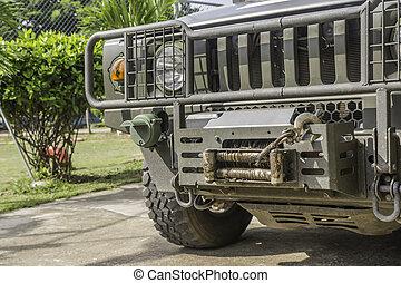 militært køretøj, fotografi