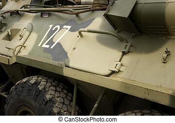 militaer, armee, gepanzerter träger
