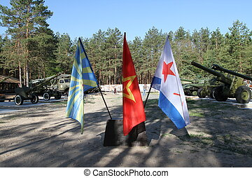 militaer, flaggen