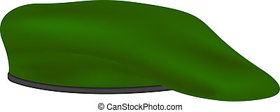 militaer, grün, baskenmütze