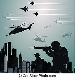 militaer, invasion
