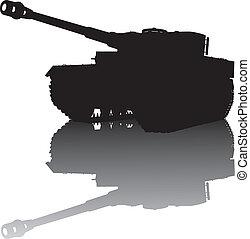 militaer, silhouette