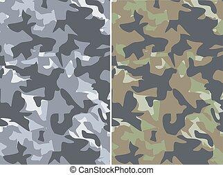 militair, camouflage, achtergronden