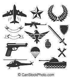 militair, communie, embleem, verzameling