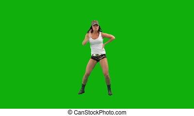 militair, meisje, dancing, heup-hop