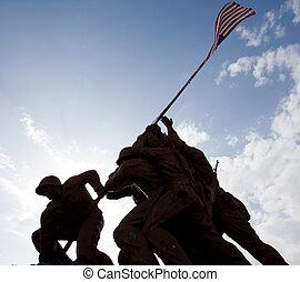 militair, standbeelden