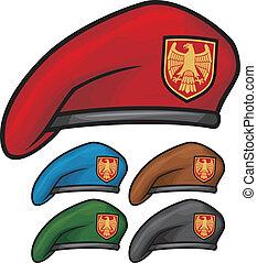 militaire, (beret, béret, collection)