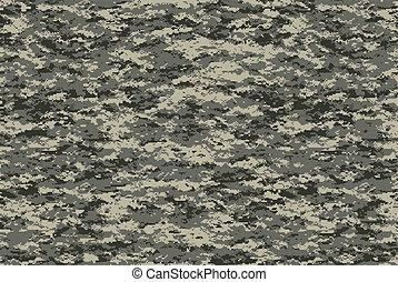 militaire, camo, texture, numérique