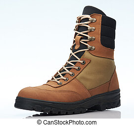 militaire, chaussure, une