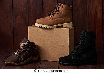 militaire, chaussures, randonnée