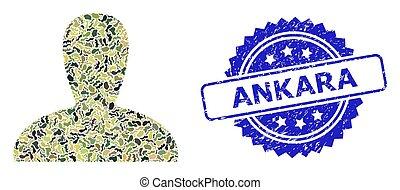 militaire, frai, ankara, textured, persona, composition, ...