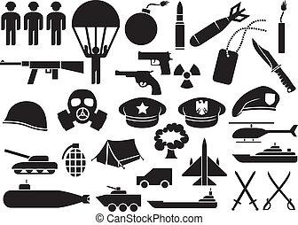militaire, icônes