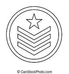 militaire, image, emblème, figure, icône