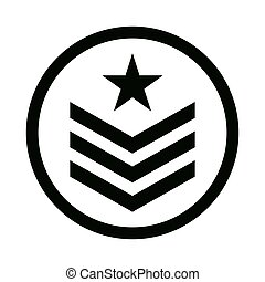 militaire, image, emblème, icône
