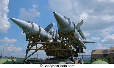 militaire, plein air, musée, missiles, exposition