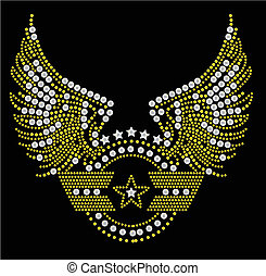 militaire, symbole, typon
