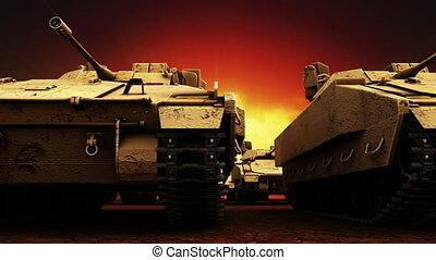 militaire tanks, seamless, lus