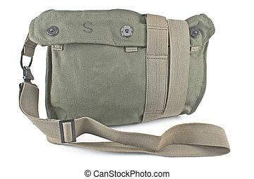 militaire, toile, sac