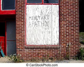 militante, apatía