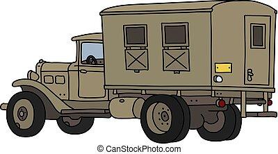 militar, areia, caminhão, clássicas