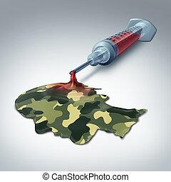 militar, asistencia médica