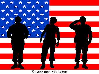 militar, bandeira