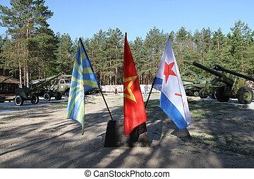 militar, bandeiras