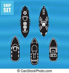 militar, barcos, civil