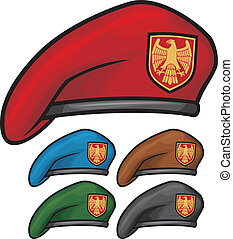 militar, boina, (beret, collection)