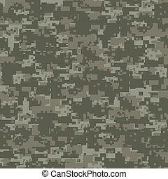 militar, bosque, camuflaje, seamless, pattern.
