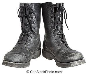 militar, botas