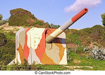 militar, cañón