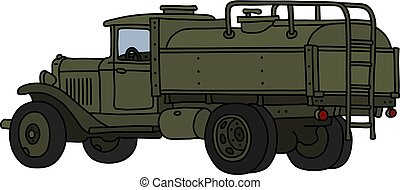 militar, caminhão tanque, clássicas