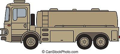 militar, caminhão tanque