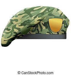 militar, camo, boina, fuerzas especiales