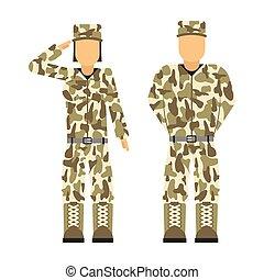 militar, carácter, arma, símbolos, armadura, hombre,...