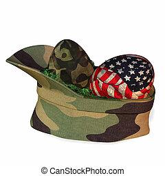 militar, cesta páscoa