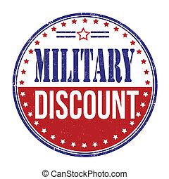 militar, desconto, selo