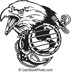 militar, desenho, -, vinyl-ready, vetorial, illustration.