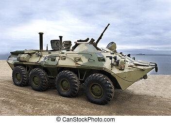 militar, ejército, vehículo blindado