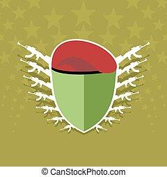 militar, emblem.