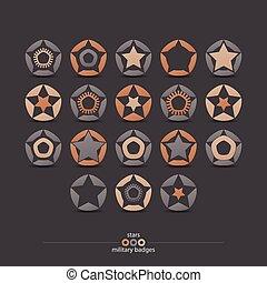 militar, emblemas