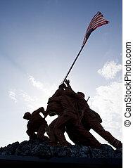 militar, estatuas