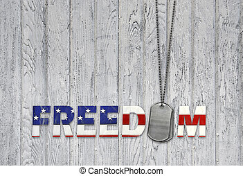 militar, etiquetas, cão, liberdade