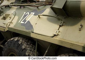 militar, exército, veículo blindado