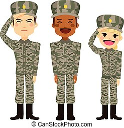 militar, gente