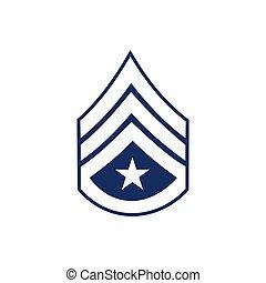 militar, grado, logotipo