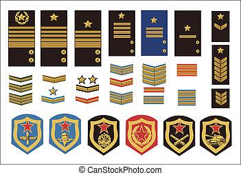 militar, grados